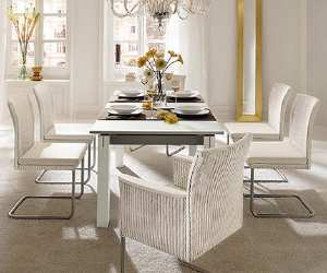 dinnig room set Modern White Dining Set