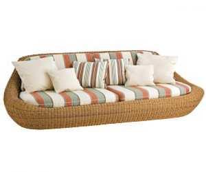 Globe Wicker Outdoor Sofa