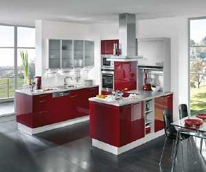 kitchen1 Modern Red and White Kitchen