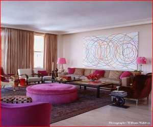 living room6 Modern Pink Living Room