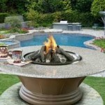 Outdoor Fire Table with Granite Top