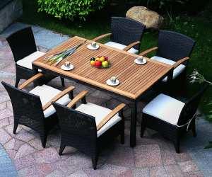 outdoor set2 Arbor Outdoor Wicker Dining Set
