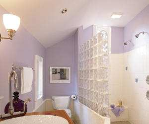pretty purple master bath room Pretty Purple Master Bathroom