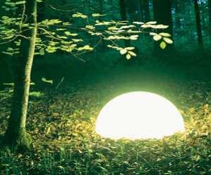 Rechargeable Half-Globe Outdoor Patio Light