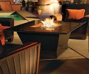 square outdoor fire table