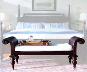 Stanley Barbados Bed End Bench with Cane - Betterimprovement.