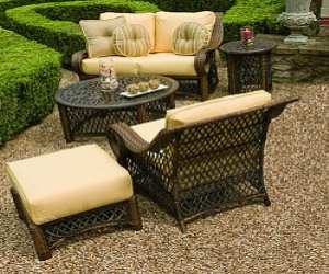 Wicker Lounge Chair and Loveseat Set