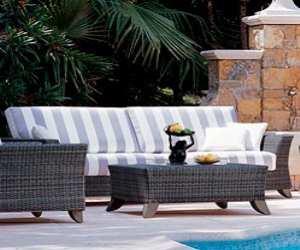 Wicker Palm Beach Sofa