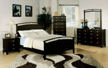 Casual simple black bed Casual Simple Black Bed