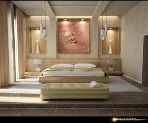 artistic bedroom with wall art Artistic Bedroom with Wall Art