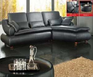 black leather sectional sofa Black Leather Sectional Sofa