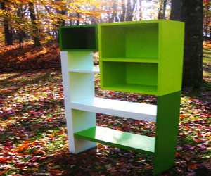 bookcase2 Green and White Beautiful Bookcase