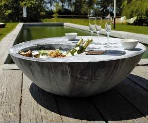 cool outdoor table with ice backet Cool Outdoor Table with Ice Bucket