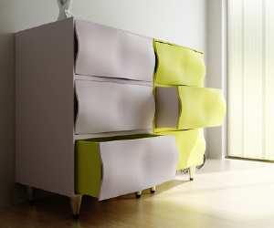 dresser Wavy Front Dresser