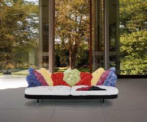 eclectic and colorful sofa Eclectic and Colorful Sofa