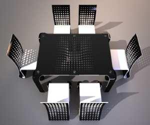 ergonomic push table dining set Ergonomic Push Table Dining Set