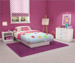 kids pure white twin wood platform bed Kids Pure White Twin Wood Platform Bed