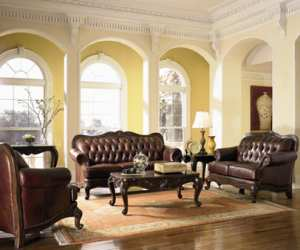 living room4 Vallano Leather Sofa Set