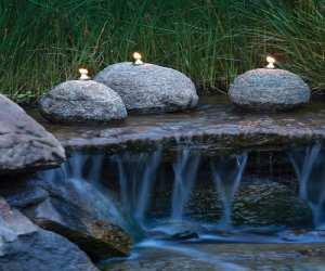 natural stone garden oil lamps Natural Stone Garden Oil Lamps