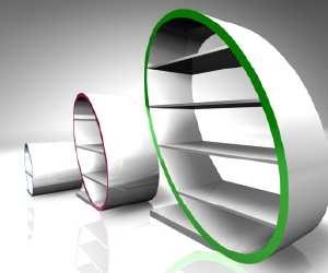 bookcase Caputo Modern Bookcase
