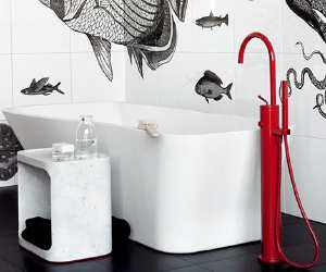 faucet1 Red Freestanding Faucet