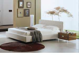 modern bedroom interior decor Stylish Modern Leather Platform Bed