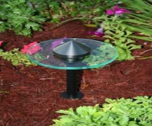 modern glass path light Modern Glass Path Light