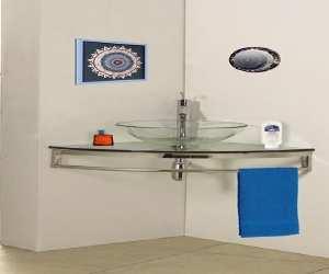 sink2 Glass Corner Vessel Sink