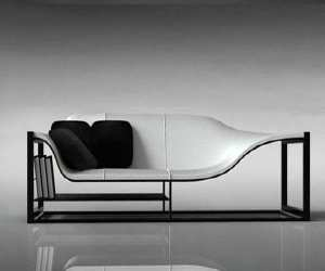 sofa6 Elegant Chair, Couch and Bookcase in One
