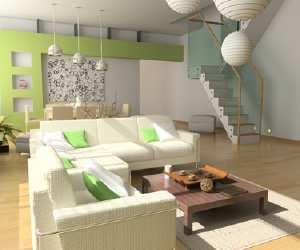 white and green interior design White and Green Interior Design