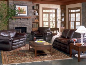 Beautiful casual leather match sofa set Beautiful Casual Leather Match Sofa Set