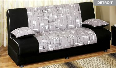 Designer Black Grey and White Sleeper Sofa Designer Black, Grey and  White Sleeper Sofa