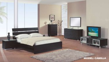 Solid Wood Elegant Modern Bedroom Solid Wood Elegant Modern Bedroom