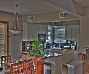 comfortable mixed kitchen and dinning room Comfortable Mixed Kitchen and Dinning Room
