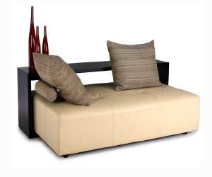 daybed with wooden shelf Daybed with Wooden Shelves