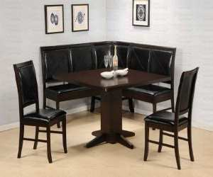 hardwood veneer corner dining table Hardwood Veneer Corner Dining Table