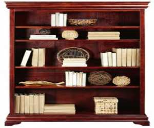 open bookcase adds an elegant touch Open Bookcase Adds an Elegant Touch