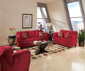 sofa9 Conrad Red Sofa Set