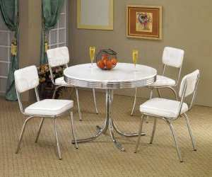 table1 White Dining Set