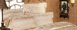 Bedroom Interior: Silk bedclothes