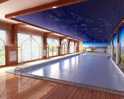 Outdoor Pool: Casement Ceilings