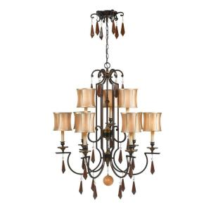 Turin Collection Euro2 Dining Room  Bronze Light Chandelier