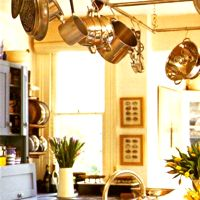 Kitchen Interior: Greenery and Flowers