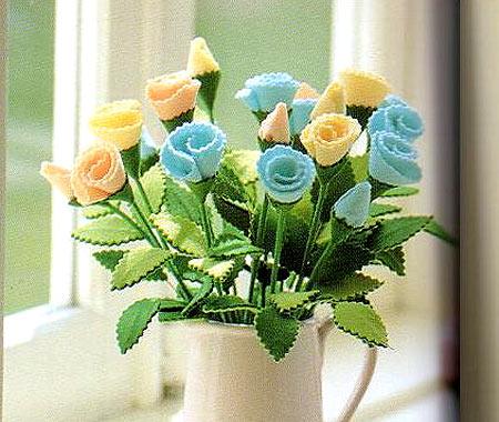 Цветы из фетра своими руками мастер