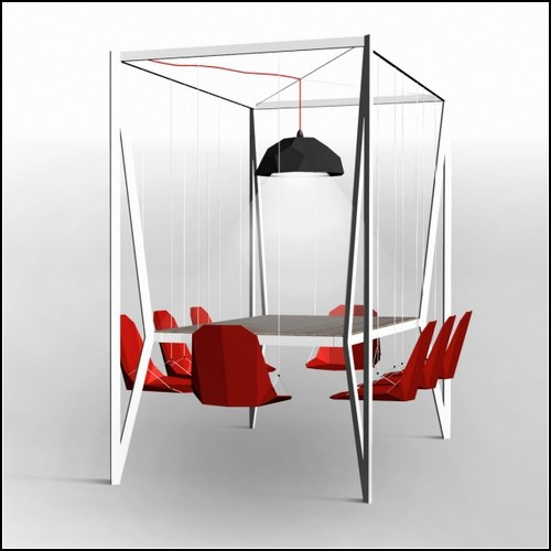 325 Lunch In the Air. Duffy London Studio Comes Up With Swing table Concept