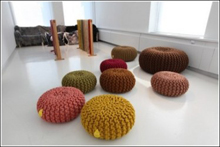 Christien Meindertsma Launched Bright Pouffes