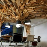 Coudamy Design Represents Creative Office Interior Wooden Cave