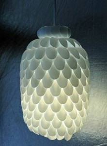512 221x300 Lamp Made of Plastic Spoon Packaging and Kegs