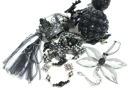 626 Black Ornaments For Christmas Decoration