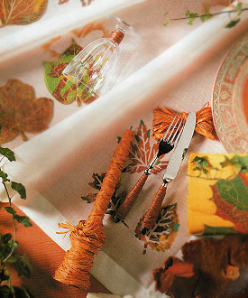 Ideas For Your Home: Autumn Accents On Flatware Decoration